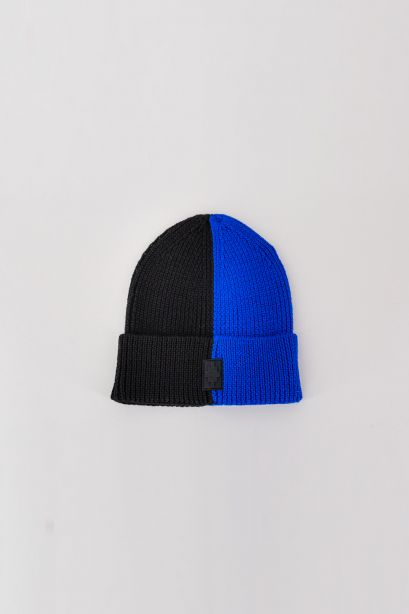 Cross Patch Bicolor Beanie