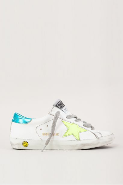 Superstar leather star fluo
