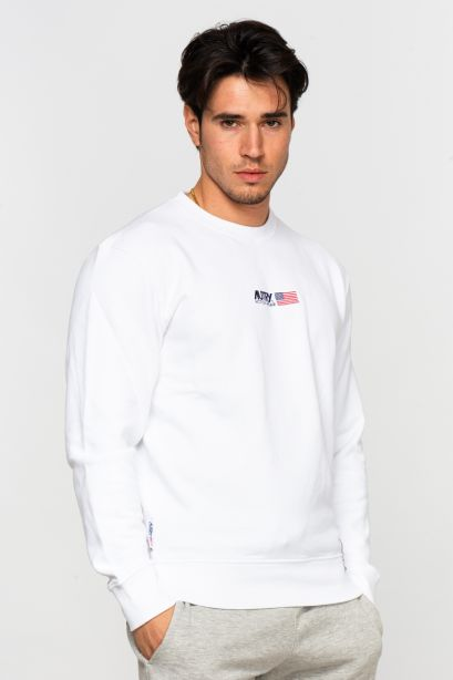 Autry sweatshirt circle flag