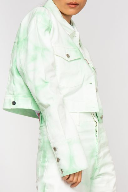 Bleached mind denim jacket