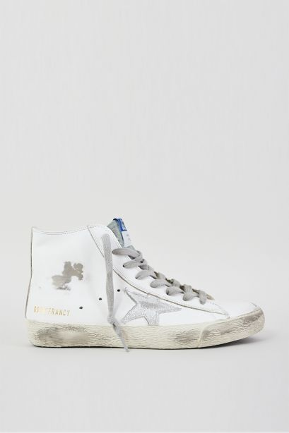 Francy leather upper suede laminated star